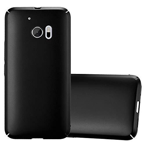 Cadorabo Hülle für HTC 10 (One M10) - Hülle in Metall SCHWARZ – Hardcase Handyhülle im Matt Metal Design - Schutzhülle Bumper Back Case Cover