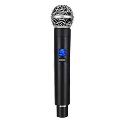 Socobeta Metal UHF Micrófono inalámbrico de Mano Profesional Sistema de micrófono de...