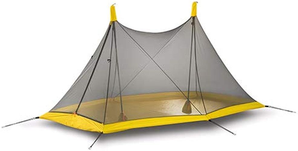 Tente Flysheet Double Minaret, Tente de randonnée pour 1 ou 2 Personnes 4 Saisons, Nylon Enduit de Silicium, Double Face, imperméable