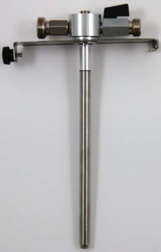 ich-zapfe.de 5 Liter Adapter, hochwertige Metallausführung mit Bierabstellhahn, Edelstahl, Silber, 18 x 3 x 3 cm