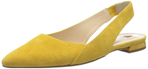 HÖGL Damskie baleriny z odkrytymi palcami, żółty - Żółty Yellow 81-38 EU
