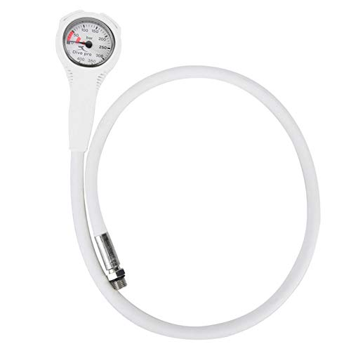 SALUTUYA El Rango de presión de los medidores de Buceo es 0-400Bar Placa de Esfera Luminosa, para Buzo(White)