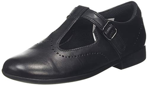 Clarks Scala Seek K, Sandali a Punta Chiusa Bambina, Nero (Black Leather Black Leather),...