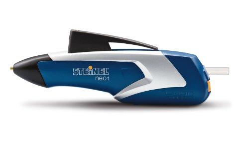 Steinel Akku-Heißklebestift Neo1 blau, Heißklebe-Pistole, 3 Klebesticks 7mm, kabellos, 3.6 V Akku, 15 Sek. Aufheizzeit