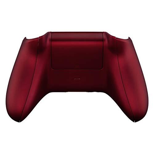 eXtremeRate Ersatzschale für Xbox One X/S Controller,Gehäuse Case Rückseite Hülle Samtige Griffe&Seitenschienen&Batterieabdeckung für Xbox One X/S Controller Modell 1708(Rot)