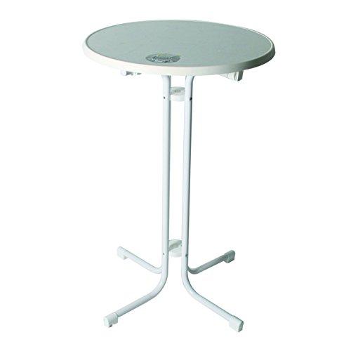 MFG Stehtisch klappbar, Tischplatte 70cm weiss Sevelit, Höhe 110cm