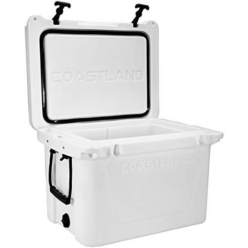 Coastland Delta Series Rotomolded Coolers | Premium Everyday Use Insulated Cooler | Ice Chest available in 25-Quart, 45-Quart, 65-Quart and 125-Quart Capacity