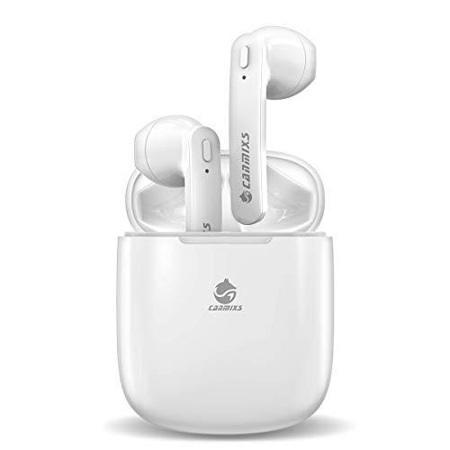 CanMixs Auriculares Bluetooth,T12 reducción de Ruido Auriculares Inalámbricos Mini Twins Estéreo In-Ear Sport Bluetooth 5.0 con micrófono Incorporado y Caja de Carga para iOS y Android