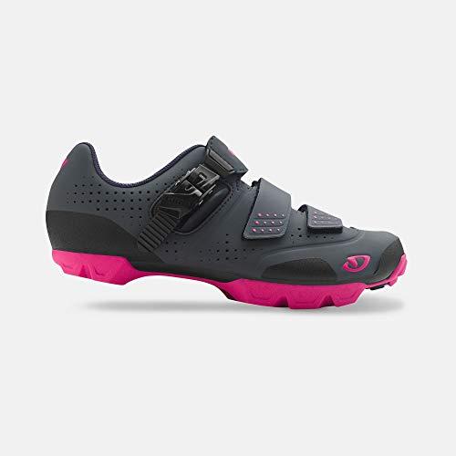 Giro Manta R Womens Mountain Cycling Shoe − 39, Dark Shadow/Bright Pink (2019)