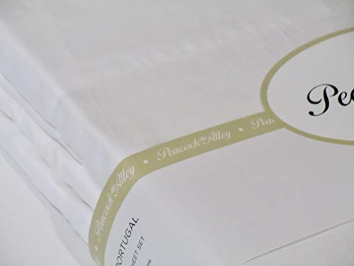 Peacock Alley 100% Long Staple Cotton King Sheet Set ~ Made in Portugal