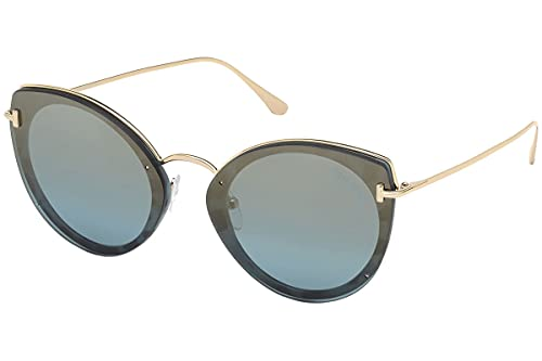 Tom Ford JESS FT 0683 - Gafas de sol para mujer, color dorado y azul, 63/14/145
