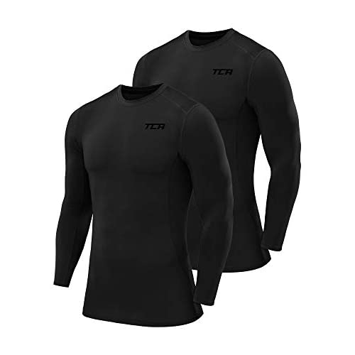 TCA Men's and Boys' Pro Performance Long Sleeve Compression Base Layer Top