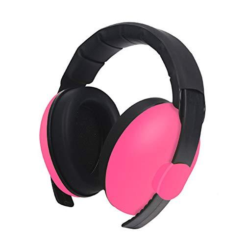 Feeilty Oorbeschermers voor kinderen, lawaai, babyoorbescherming, koptelefoon voor het annuleren, ruisonderdrukken, gehoorbescherming roze