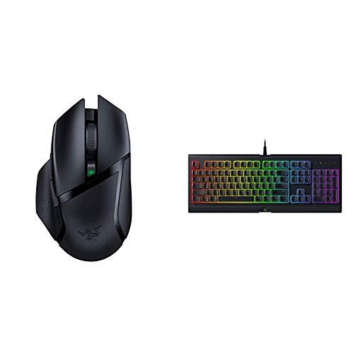 Razer Basilisk X Hyperspeed Wireless Gaming Mouse - Classic Black & Cynosa Chroma Gaming Keyboard: 168 Individually Backlit RGB Keys - Spill-Resistant Design - Programmable Macro Functionality