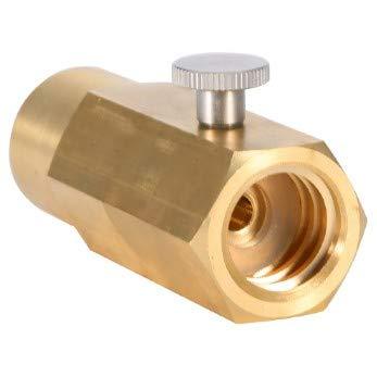 KSTE Adaptador Gas So-da-Stream, CO2 Adaptador De Recarga De Cilindros, CO2 Adaptador-On/Off Kit De Llenado del Tanque So-da-Stream Soda Conector For W21.8-14 / Tema DIN477