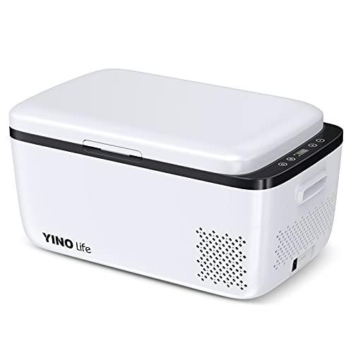 YINO life ポータブル冷蔵庫 20L 大容量 -20℃~10℃ 温度調整可 コンプレッサー式 急速冷却 冷凍庫 保冷庫 ...