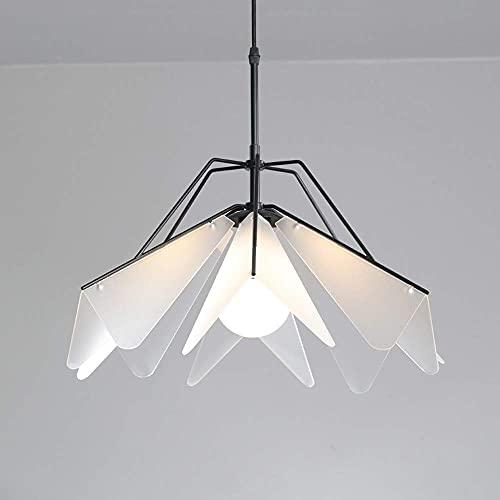 WEM Lámpara de araña decorativa novedosa, luz colgante de techo geométrica nórdica, lámpara colgante de acrílico simple moderna, accesorios de iluminación de suspensión para dormitorio, sala de estar