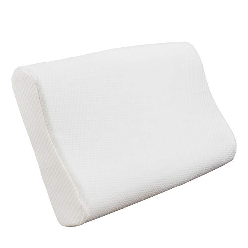 JY Memory Foam Orthopedic Pillow Contour Pillow Soft Cervical Pillow Premium Neck Support Pillow with Bamboo Cover Best Cervical Neck Pillow for Side & Back Sleeper