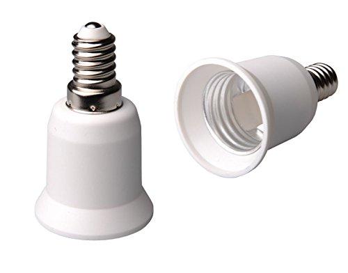 ZEYUN E14 a E27 Adaptador de portalámparas con base, ES a SES Ampliar Portalámparas, Edison Tornillo grande a Adaptador de enchufe con tornillo pequeño para LED, CFL, Halógeno, paquete de 5