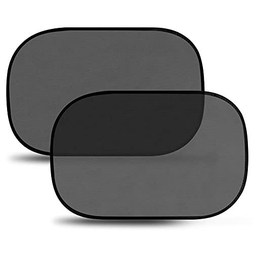 Orlegol Tendine Parasole Auto Bambini, Parasole Auto per Bambini Block Raggi UV e Calore, Universali Tendine Parasole Autoadesivi per Finestrini Laterali, 2...