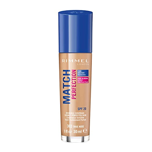 Rimmel London Match Perfection Foundation Base de Maquillaje Tono 303 True Nude...