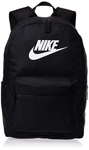 Nike Unisex-Erwachsene Heritage Sac a DOS 2.0 Sports Backpack, Schwarz (Black/Black/White), One Size