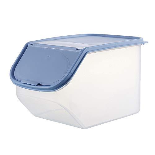 Zreal Boîte de rangement hermétique pour aliments secs avec gobelet doseur en plastique pour céréales, farine, riz, grains de haricots