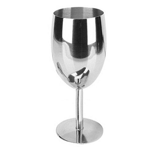 EgoEra® Unzerbrechlich Edelstahl Becher Weingläser/Weinbecher/Rotweinglas/Weinglas, 17 cm Höhe