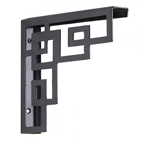 Lindhb Wandhalterung Regalhalterung 2ST Gerüstbohle Regal Brackets Heavy Duty Eisen Regalträger für die Tisch & Wand-Montage (Color : Gold, Size : S)