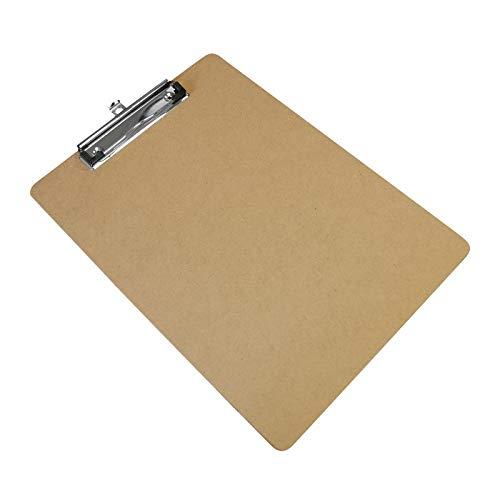 Klemmbrett für DIN A4, hochformat, Holz MDF (recyceltes Holz)