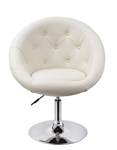 Duhome Sessel Farbenvielfalt höhenverstellbar Kunstleder Clubsessel Coctailsessel Loungesessel - TYP 509A, Farbe:Creme, Material:Kunstleder