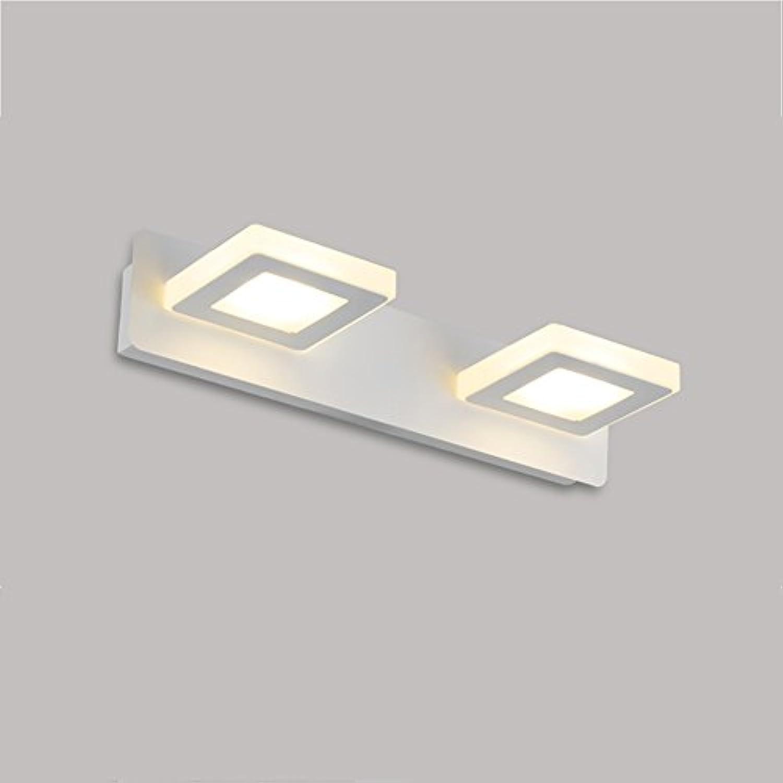 & Spiegellampen Spiegel-vordere Lichter, geführtes Badezimmer-wasserdichtes Licht-Spiegel-Kabinett-Lichter Einfache Verfassungs-Wand-Lampen-Wand-Lichter, warmes Wei, ein wenig Kopf Badezimmerbeleucht