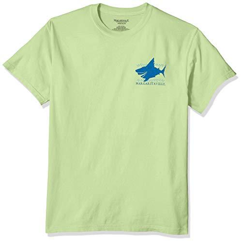 Margaritaville Men's LandShark Can't You Feel Em' Circlin' Short Sleeve T-Shirt, Kiwi, Small