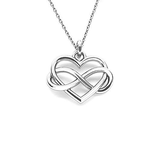 Crystals & Stones *UNENDLICHKEIT* **Valentinstag 2019 ** 925 *Halskette* Schön Damen Halskette - Anhänger Halskette Schmuck Mutter Geschenk PIN/75
