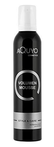 Style & Care Volumen Mousse Haarschaum (300ml) | Schaumfestiger verleiht dem Haar Halt und Fülle beim Fönen | Haarfestiger mit Hitzeschutz