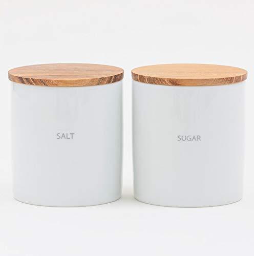 LOLO 保存容器 キャニスターセット BS08 日本製 陶器 SALIU チーク (SET SALT-SUGAR)