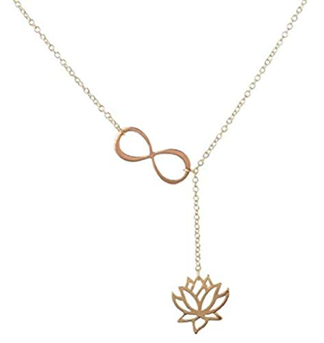 PIERRETOILES Collar Flor de Loto Infinito (Oro)
