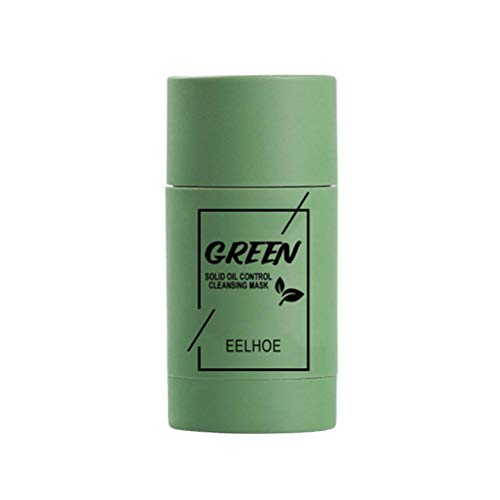 BBABBT Mascarilla limpiadora de té Verde/Berenjena en Barra Mascarilla en Barra purificadora Limpieza Profunda, Control de Aceite Anti-acné Limpieza Profunda Cubierta Facial sólida