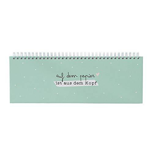 Odernichtoderdoch Tischkalender mint | Auf dem Papier ist aus dem Kopf | 52 Wochen - undatiert - Querformat