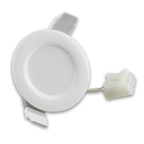 Spot encastré LED blanc rond 4 watts blanc chaud plat (30mm) 230V - lampe encastrée IP44 pour salle de bain, extérieur - Ø45mm trou plafond salle de bain - spot encastré salle de bain