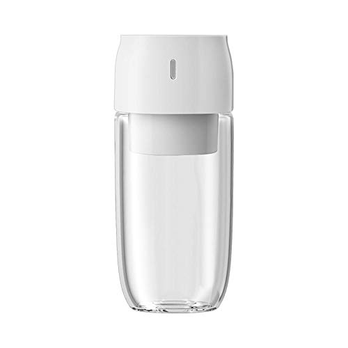 Libre de BPA Licuadora Portátil,Exprimidor de Vidrio portátil, exprimidor USB Recargable-Blanco,Verdura Batido Blender