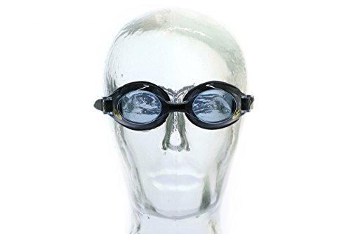 AQUA-SPEED® LUMINA - Schwarz getönt - Optische Schwimmbrille mit Sehstärke | Erwachsene | Herren | Damen | Erhältliche Dioptrien: -1,5 bis -8 | Kurzsichtigkeit | Anti-Fog | UV-Schutz | Austauschbarer Nasensteg | Kristallklare Sicht, Modell:Lumina / schwarz / getönt, Größe:-1.5