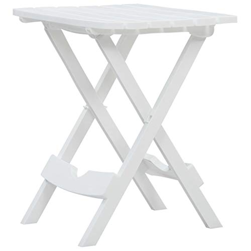 Festnight Tuintafel inklapbaar Eetkamerstoel fauteuil kan worden gebruikt bij receptie thuiskantoor woonkamer slaapkamer eetkamer woonkamer keuken balkon 45,5x38,5x50 cm wit