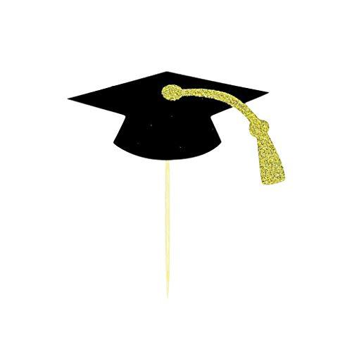 Hahuha 48Pcs 2020 Graduation Season Cupcake Topper Kuchenzubehör für Partydekoration zum Nähen von Kunsthandwerk DIY, Manschette, Kunsthandwerk