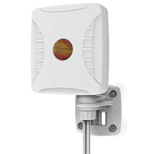 Poynting XPOL-1 V2 5G 3dBi Omnidirezionale Cross Polarized LTE 2x2 MIMO Antenna Esterna, Bianco