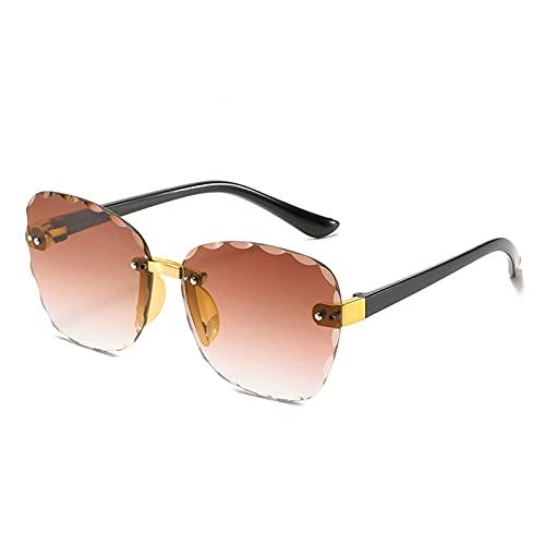 ZHEMAIE Gafas de Sol 2020 nuevos niños Elegantes niños Ojos Gato Gafas de Sol Moda niño Cuadrado Rosa gradiente Sol Gafas niño niña Gafas UV400 Gafas (Lenses Color : 5 DJ7705 C4)