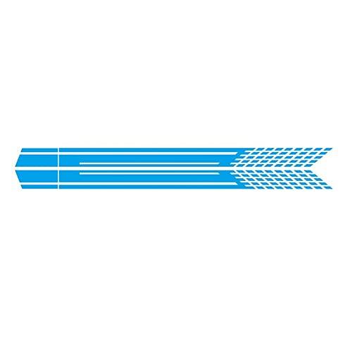 FLLOVE 2pcs / Set Bricolaje Coche Ambos Lados Pegatinas Rapeas de Carreras Camuflaje de Camuflaje Coche Productos de Coches Película Vinilo Coche Exterior Accesorios (Color Name : Blue)