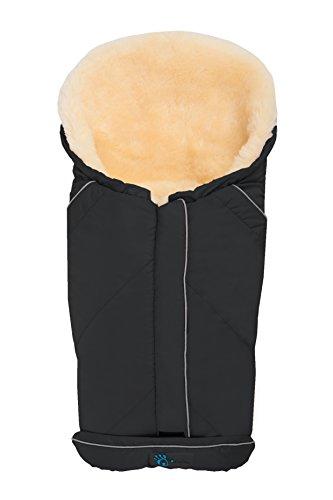 Altabebe MT2003LP-61 winterlamsvachtvoetenzak voor babyschaal en badkuip Nordkap collectie 0-12 maanden, beige zwart