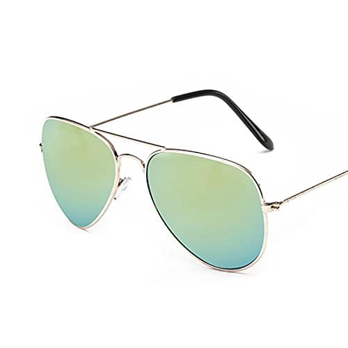 Secuos Moda Gafas De Sol De Conducción De Aviación Retro para Hombre De Marca Gafas Vintage Gafas De Sol De Pesca Gafas De Sol para Mujer Bisagra De Primavera Uv400 Goldgolden