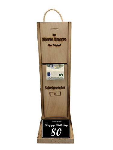 Happy Birthday 80 Geburtstag - Eiserne Reserve ® Scheinwerfer - Geldautomat - Geldgeschenk - Die lustige Geschenkidee - Geld verschenken